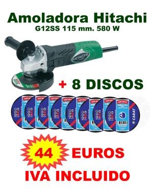 AMOLADORA-HITACHI-8-DISCOS Oferta Amoladoras Hitachi